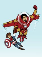 Ironbuzz and Captain Woody by ligea