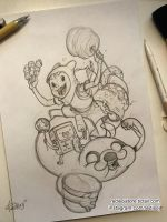 Adventure Time fan-art sketch by redisoj
