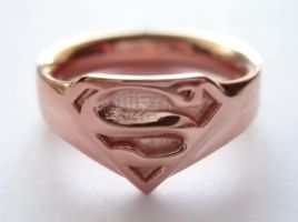 Gold-Plated Supergirl Ring by JeremyMallin