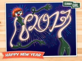 Welcome 2017!! - Gummy Girl's Holiday Card by quique0990