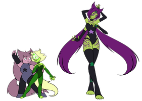 Commission - CE Amethyst and Peridot, Atlantisite by Medral