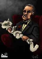 The  godfather  with  his cat by Naujack