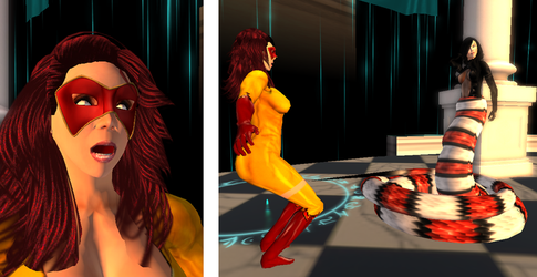 Firestar in the Temple of Naga 01 by TheLadyRock
