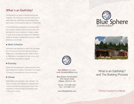 Blue Sphere Brochure Side One by Wolf-Daughter