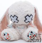 Almond White Bunny by splitmindplush