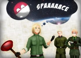 Poland cannot into space - MMD by Moonlight2Shadow