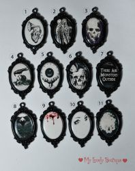 Gothic Horror Necklaces by TheLovelyBoutique
