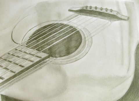 Guitar drawing by richardnorth