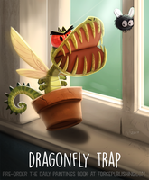 Daily Paint 1639. Dragonfly Trap by Cryptid-Creations