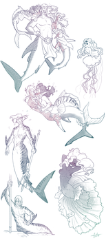 Mermay Doodle Dumps by GreenOverGreen