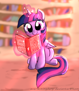 Twilight is reading by EverlastingDerp