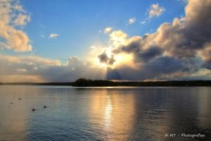Beautiful clouds in the sun by MT-Photografien