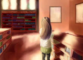 The Library by xXWh1teW0lfXx
