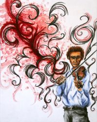 AP Studio Art 2014: Concentration 11 (Violinist) by Skanday