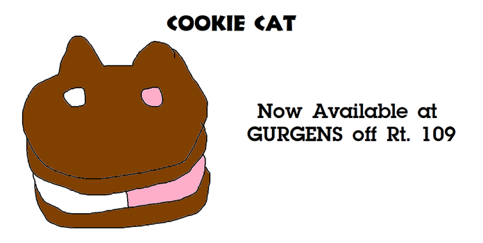 Cookie Cat is Available at Gurgens (Fake Ad) by MikeEddyAdmirer89