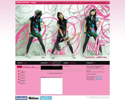 Nadya Fatira Official Site by xmasada