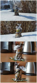 Snow Dragon in FIMO clay by Pokenoll