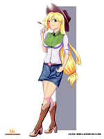 EqG - Applejack by Moon-DragonStudio