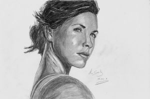 Portrait Evangeline lilly by Draw4all
