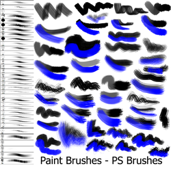 Paint Brushes - PS Brushes by Dark-Zeblock