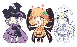 Halloween Setprice Adopts! | CLOSED by Milavana