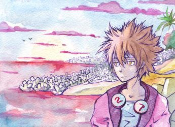 Watercolor Tsuna by pink-pink