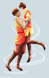 Slightly older Kai and Jinora by thelegendofzuko