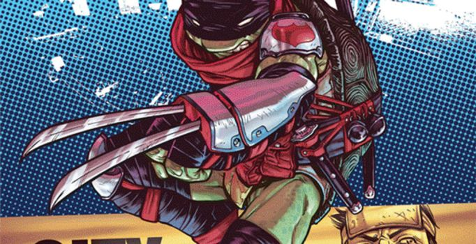 Making of TMNT #25 cover by Santolouco