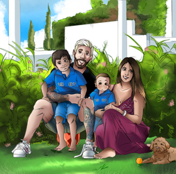 MESSI S FAMILY by Sandra-delaIglesia
