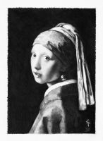 Vermeer - study in pencil by NorthumbrianArtist
