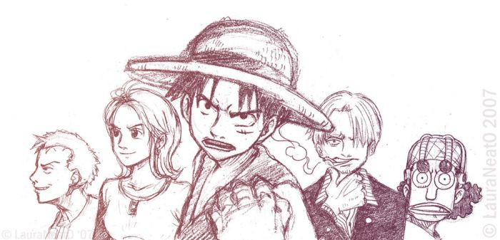 One Piece group-??- sketch by lauraneato