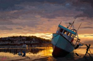 Boats Sunset by discipleneil777