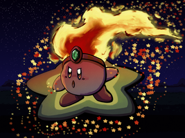 Fire Kirby (DA 10th Anniversary) by luvkirby4ever