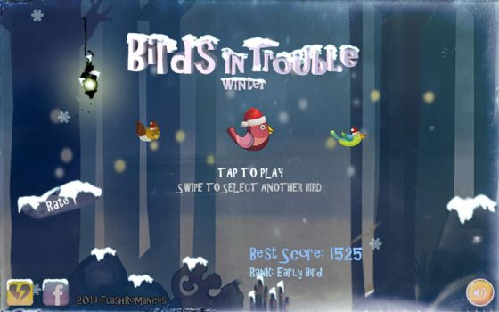 Birds In Trouble Winter by tosbin