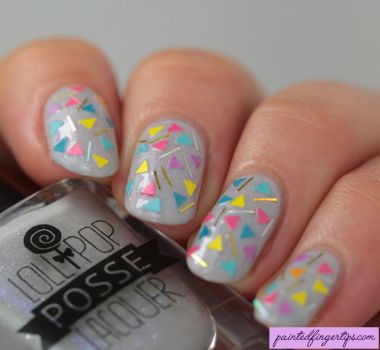 Sprinkles-nail-art by Painted-Fingertips