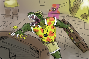 Angry tourist Renekton by Scissorwell