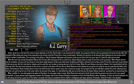 [Earth-27: Oracle Files] A.J. Curry by Roysovitch
