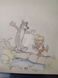 Calvin and Hobbes parody, Elfquest by bennyvdez
