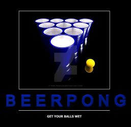 Beer Pong Poster 2 by pixelworlds