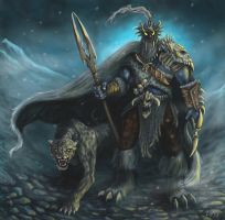 Snow Leopard Beastmaster by halohunter