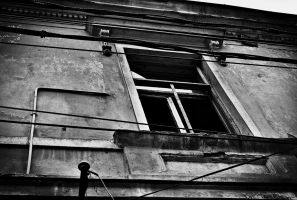 Window where the light meets the darkness by leoatelier