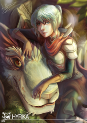 Fantasy Girl with some Dragon by Hyrika