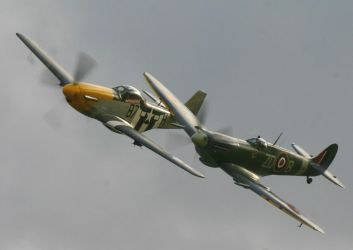 p51 frankie AND spitfire mh434 by Sceptre63