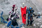 World of Warcraft: Sylvanas Windrunner and orc by Likeassassin