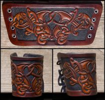 The Oath leather wristband by Wodenswolf