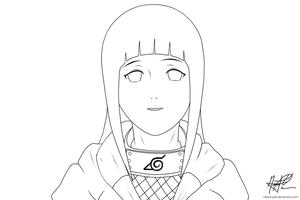 Hinata LINEART by nelsonaof
