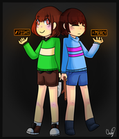 Frisk and Chara by Cheng-E