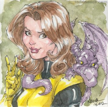 Kitty Pryde and Lockheed by ToddNauck