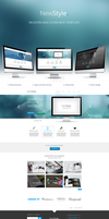 New Style modern web template by Nalge