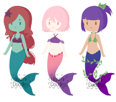 [A] Mermaid Adopts #1 (1/3 Open) by Hiyumi-Doodles